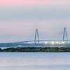 Cooper River Bridge at night Charleston South Carolina
