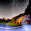 The Craggy Pinnacle Tunnel, on the Blue Ridge Parkway in North Carolina at night