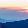 Nice sunset over mountains or north carolina