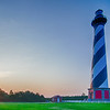 Cape Hatteras lighthouse at its new location near the town of Buxton on the Outer Banks of North Carolina