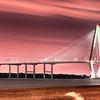 The Arthur Ravenel Jr. Bridge that connects Charleston to Mount Pleasant in South Carolina.