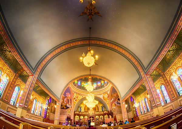 Charlotte, nc, September 7, 2014 - interior of  Holy Trinity Greek Orthodox Cathedral Charlotte nc