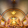 Charlotte, nc, September 7, 2014 - interior of  Holy Trinity Greek Orthodox Cathedral Charlotte nc