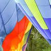 Colorful hot air balloons at festival