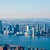 Newark  and New York City  with Manhattan Skyline over Hudson River