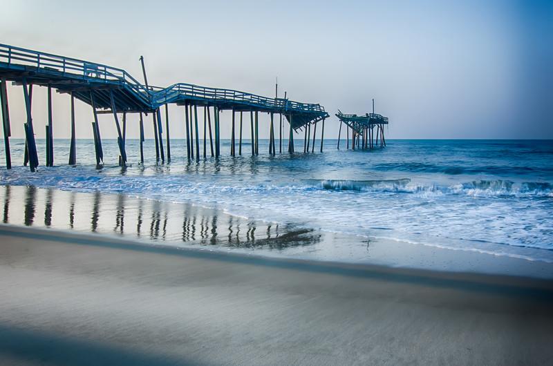 Abandoned North Carolina Fishing Pier Outerbanks OBX Cape Hatteras National Seashore