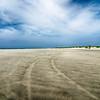 driving on sandy beach at outer banks north carolina
