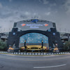 CHARLOTTE, NORTH CAROLINA - August, 2014: View of the newly renovated Bank of America Stadium, home of the Carolina Panthers football team