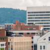roanoke virginia city skyline on a sunny day