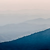 The simple layers of the Smokies at sunset - Smoky Mountain Nat. Park, USA.