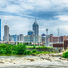 Indianapolis skyline. Panoramic image of Indianapolis skyline at daytime