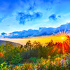 Blue Ridge Parkway late summer Appalachian Mountains Sunset Western NC Scenic Landscape vacation destination