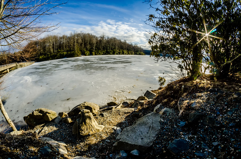 price lake frozen over during winter months