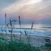 Beautiful empty beach at sunrise