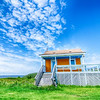 lonely beach hut