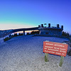 top of mount mitchell after sunset
