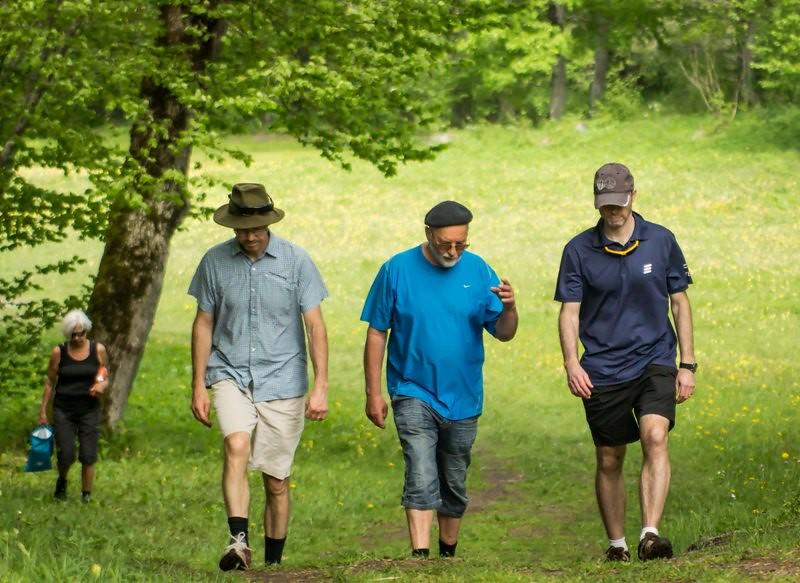 Göran, Billy och Patrik på rundvandring i Ängsö Nationalpark