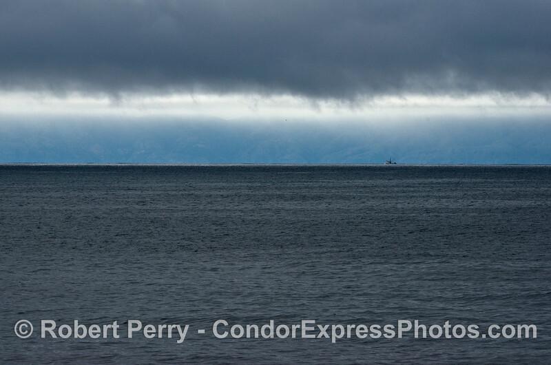 Rain clouds & ocean & vessel fishing 2014 02-08 SB Channel-011small