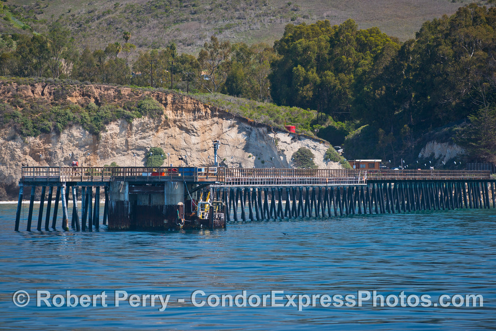 Elwood oil pier - between Gaviota and Goleta.
