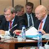 From left: Ambassador Kurt Jäger, Liechtenstein Mission to the EU; Mr Mauro Pedrazzini, Acting Minister of Foreign Affairs of Liechtenstein; and Mr Martin Frick, Ambassador and Director of the Office for Foreign Affairs, Liechtenstein