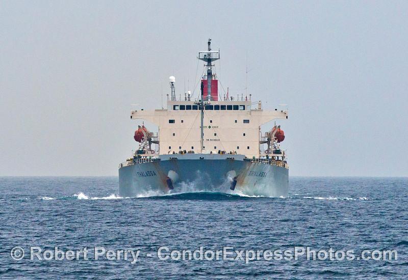 "Bulk carrier vessel ""Thalassa"" heading north en route to Japan."