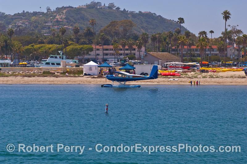 Sea plane in Santa Barbara Harbor.