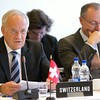 From left: Mr Johann N. Schneider-Ammann, Federal Councillor, Head of the Swiss Federal Department of Economic Affairs, Education and Research, and Mr Didier Chambovey, Ambassador and Delegate of the Swiss Federal Council to Trade Agreements, Head World Trade, State Secretariat for Economic Affairs