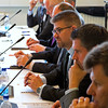 Gunnar Bragi Sveinsson, Minister for Foreign Affairs and External Trade, Iceland, chairing the EFTA Ministerial Meeting on 23 June 2014 at the Westman Islands, Iceland