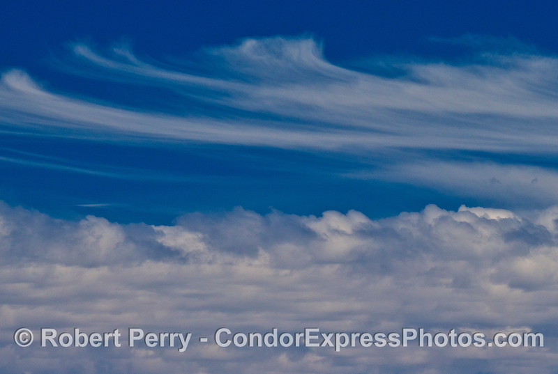 Clouds above the Santa Barbara Channel