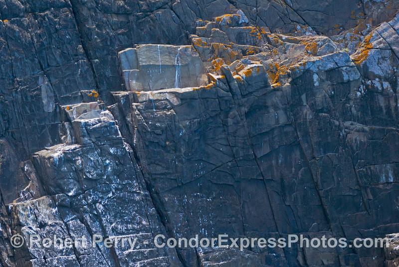 Santa Cruz Island seacliffs rock formations