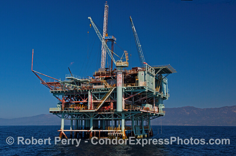 Offshore oil and gas Platform Houchin - Santa Barbara Channel