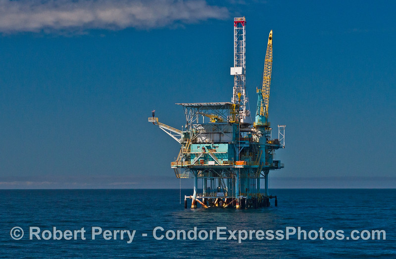 Offshore oil and gas platform Henry in the Santa Barbara Channel