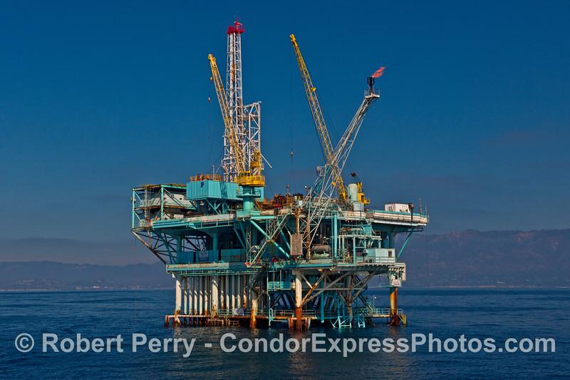 Offshore oil platform Alpha.