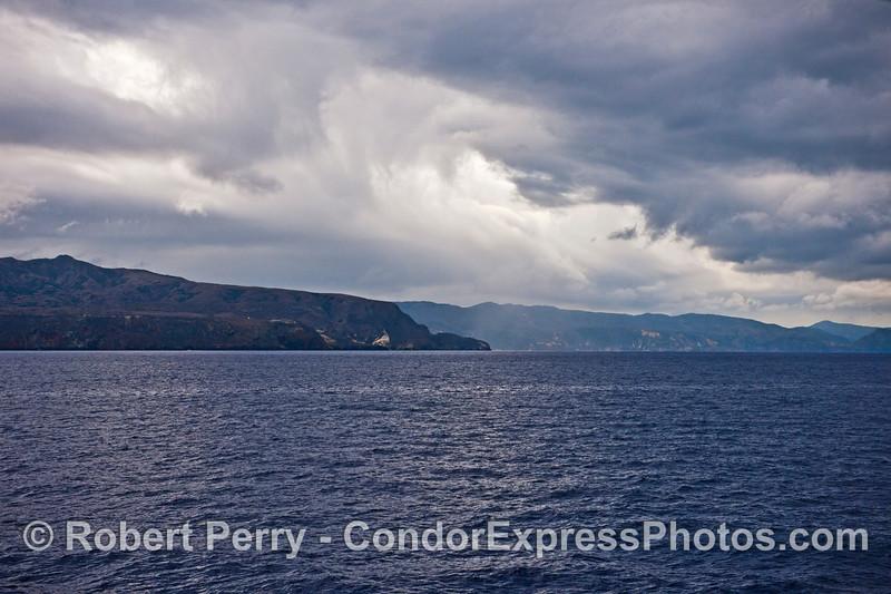 Storm clouds over Santa Cruz Island