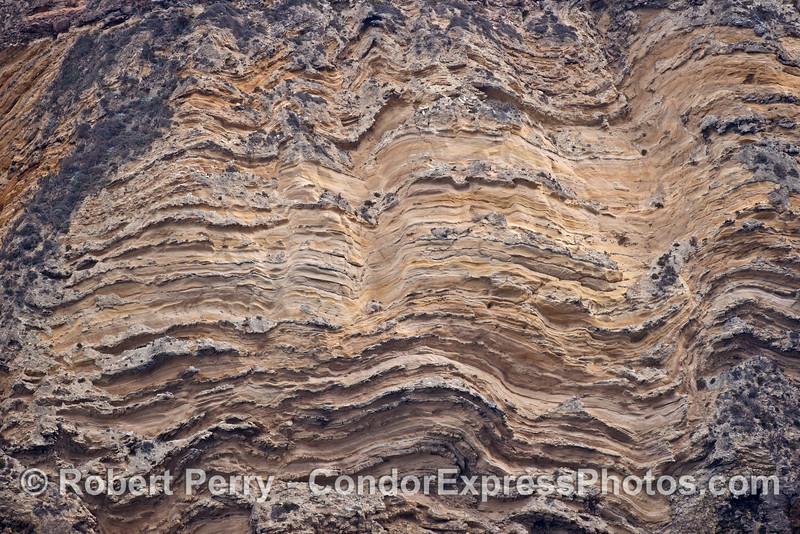 Rocky sea cliffs - sandstone formations - Santa Cruz Island