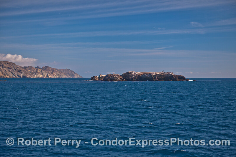 Gull Island with Santa Cruz Island in back