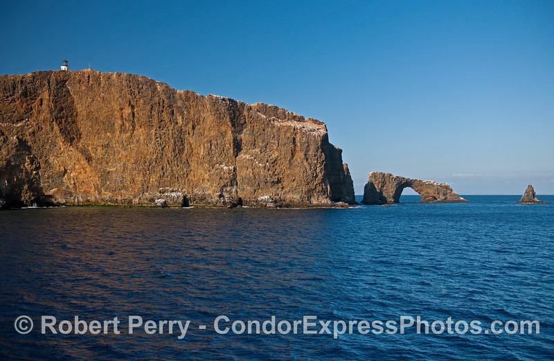 Arch Rock, Anacapa Island, in the afternoon sun.