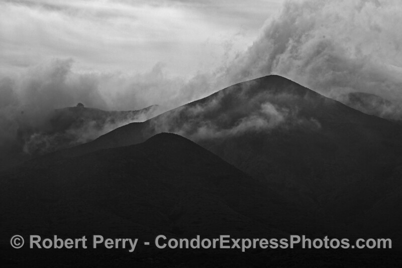 Mountain peaks and clouds - Santa Cruz Island