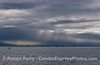 Rain squalls over the offshore oil platforms - Santa Barbara Channel