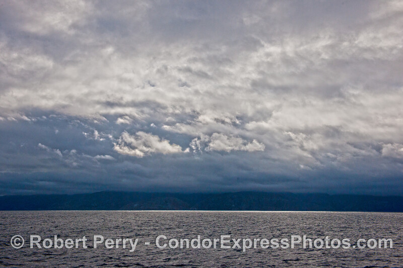 Rain and clouds - Santa Cruz Island