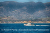 "US Coast Guard cutter ""Blackfin"" on patrol off the coast of Santa Barbara, California."