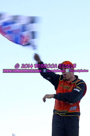 Lee with flag