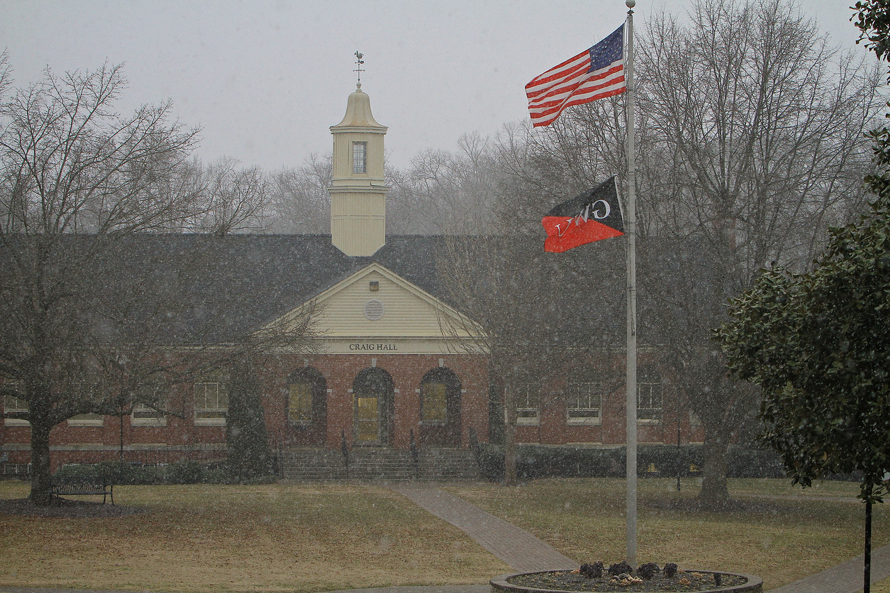 Snowy day in February, 2014.