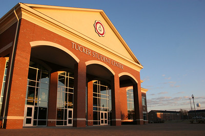 Tucker Student Center on a cool January morning on the campus of Gardner-Webb University.