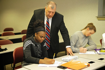 Don Caudill teaching Business Marketing; Spring 2014.