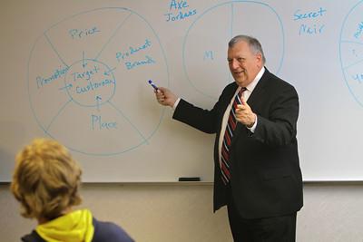 Don Caudill teaching Business Marketing; Spring 2014.