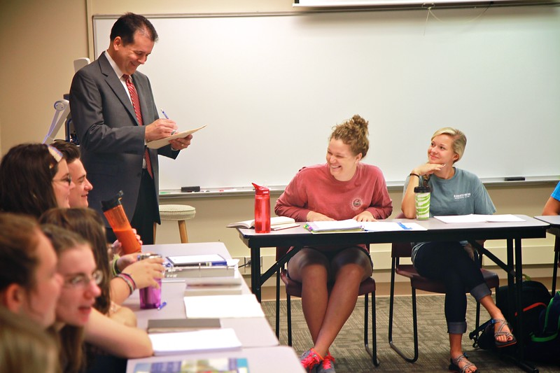 Classroom shots with Dr. Eddie Stepp; Fall 2014