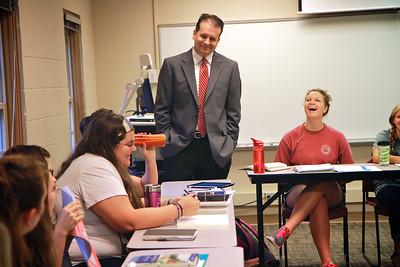 Classroom shots with Dr. Eddie Stepp; Fall 2014