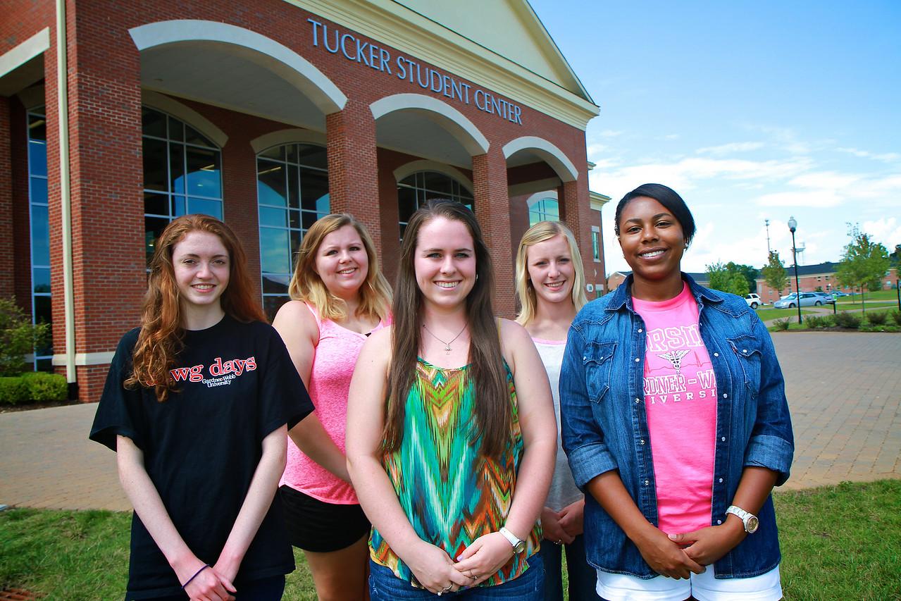 Legacy Society Group: Kathryn Manning, Megan Dellinger, Lacey Mullinax, Alex McRary, Ashley Brown