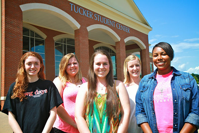 Legacy Society Group: Kathryn Manning, Megan Dellinger, Lacey Mullinax, Alex McRary, Ashley Brown